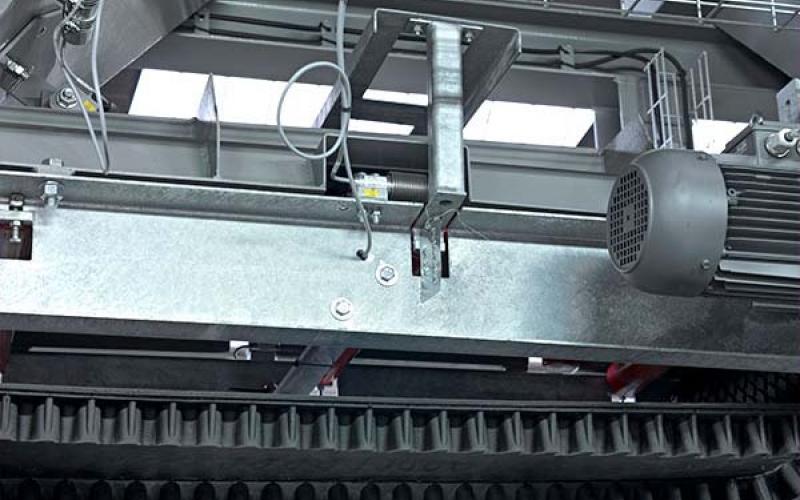 Prédosage : pesage individuel des composants au moyen de tapis peseur.